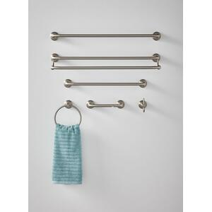 "Hilliard brushed nickel 24"" double towel bar"