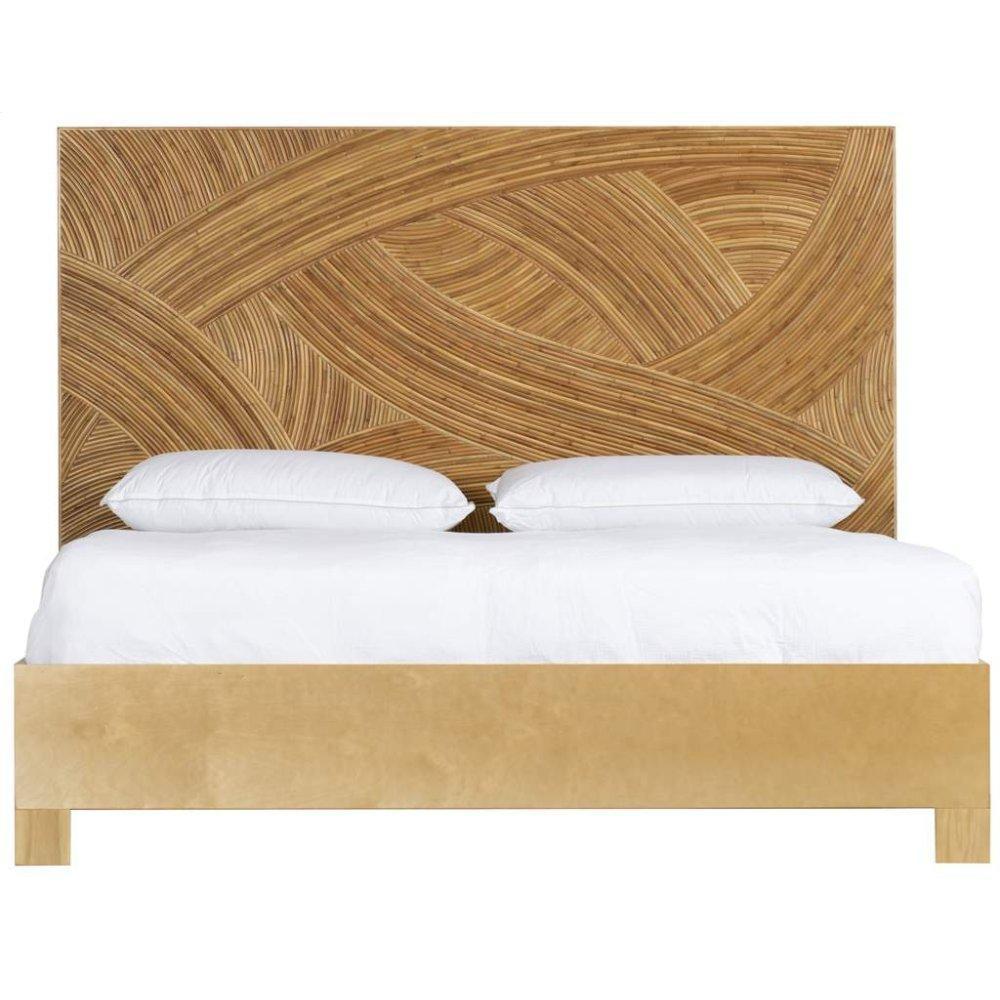 Swirl Rattan Bed
