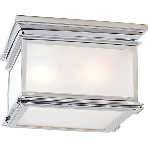 Visual Comfort CHC4129PN-FG E. F. Chapman Club 3 Light 13 inch Polished Nickel Flush Mount Ceiling Light in Frosted Glass