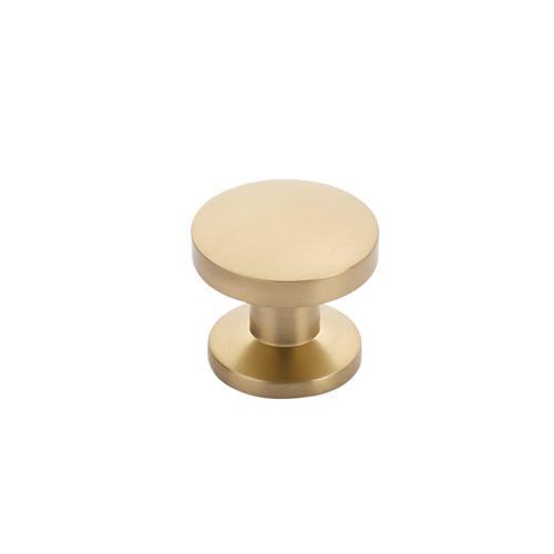 "Northport, Round Knob, 1-3/8"" diameter, Signature Satin Brass"