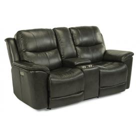 Cade Power Reclining Loveseat with Console & Power Headrests