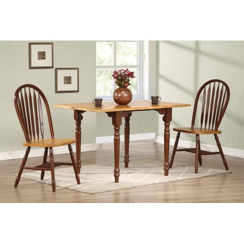Drop Leaf Dining Table - Nutmeg with Light Oak
