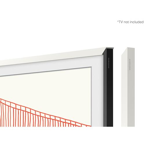 "(2021) 75"" The Frame Customizable Bezel - Modern White"
