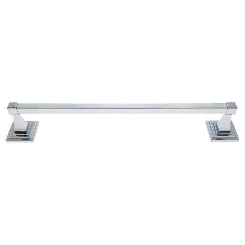 "Polished Chrome 24"" Gradus Towel Bar Set"