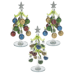 Christmas Tree with Ornaments - Med. (6 set ppk.)