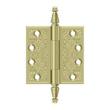 """4"""" x 4"""" Square Hinges - Unlacquered Brass"""