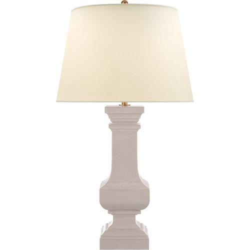 Visual Comfort CHA8657BC-PL E. F. Chapman Square Balustrade 42 inch 100 watt Bone Craquelure Table Lamp Portable Light, Grande