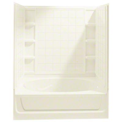 "Ensemble™, Series 7110, 60"" x 36"" x 72"" Tile Bath/Shower with Access Panel - Right-hand Drain - KOHLER Biscuit"