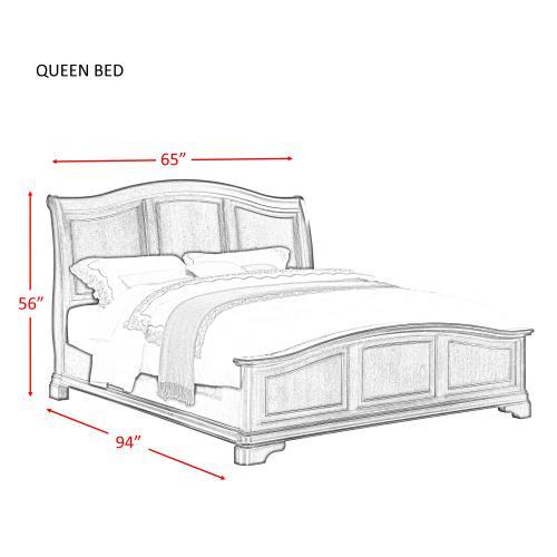 Cameron Cherry Queen Panel Bed Cherry