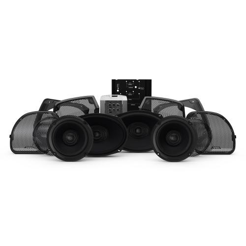 Rockford Fosgate - 2014+ Harley-Davidson® Road Glide® & Street Glide® 4-Speaker & Amp Kit