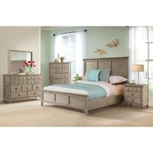 Myra - King/california King Louver Headboard - Natural Finish