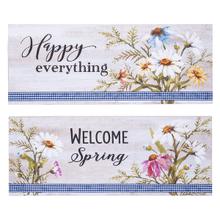 Floral Gingham Plaques (4 pc. ppk.)