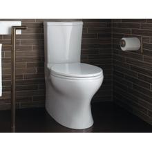 Two-Piece High-Efficiency Toilet, Less Seat - Stucco White