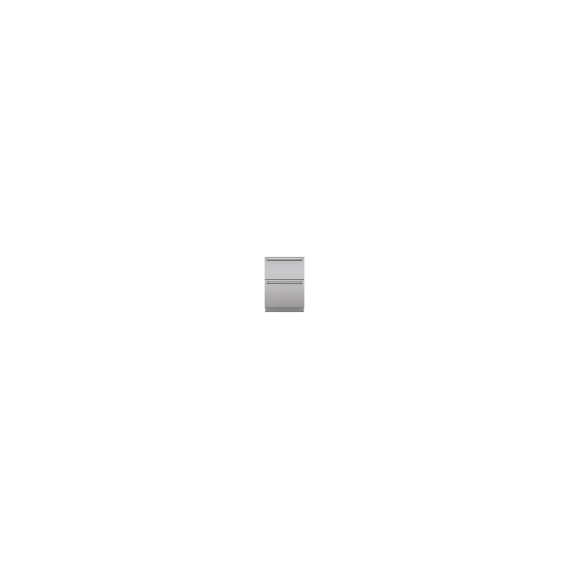 """Integrated Stainless Steel 24"""" Drawer panels with Pro Handles"""