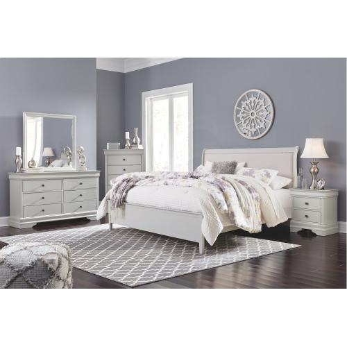 King Sleigh Bed With Mattress