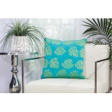"Outdoor Pillows L1520 Turqois Green 18"" X 18"" Throw Pillow"