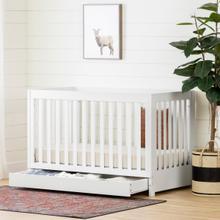 Yodi - Crib with Drawer, Pure White