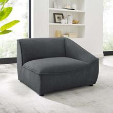 Comprise Right-Arm Sectional Sofa Chair in Charcoal