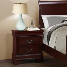 Isola Louis Philippe Solid Wood Construction Fully Assembled Night Stand Cherry Finish