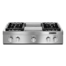 "DISCONTINUED FLOOR MODEL Pro-Style® 36"" Gas Rangetop with Griddle"