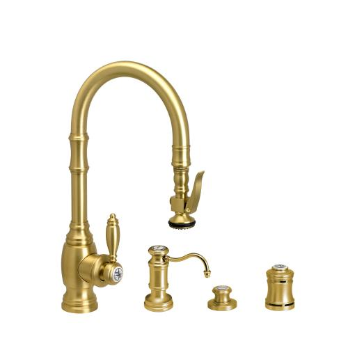 Traditional Prep Size PLP Pulldown Faucet 4pc Suite - 5200-4 - Waterstone Luxury Kitchen Faucets