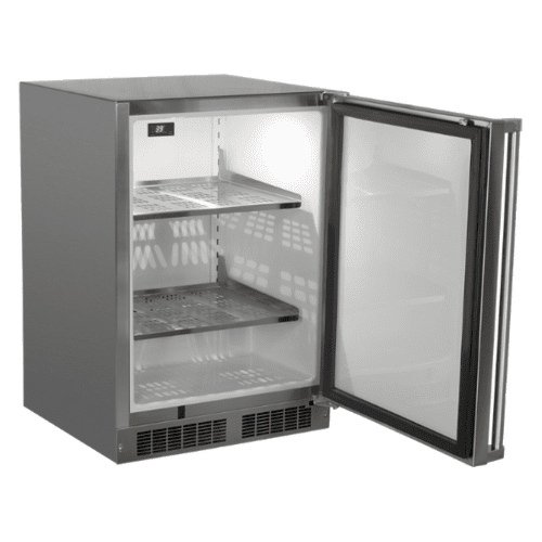 Marvel - 24-In Outdoor Built-In High-Capacity Refrigerator with Door Style - Stainless Steel