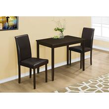 DINING SET - 3PCS SET / ESPRESSO / BROWN PARSON CHAIRS