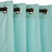 See Details - Sunbrella Canvas Glacier Outdoor Curtain with Grommets