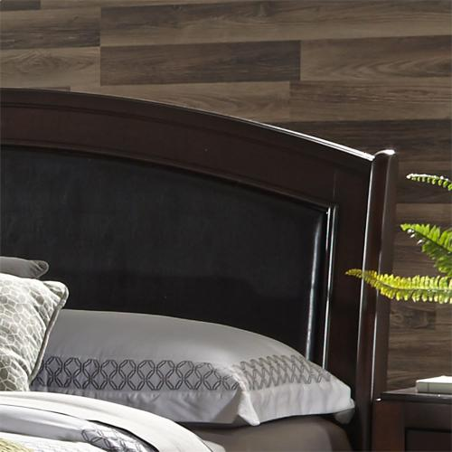 King Panel Leather Headboard