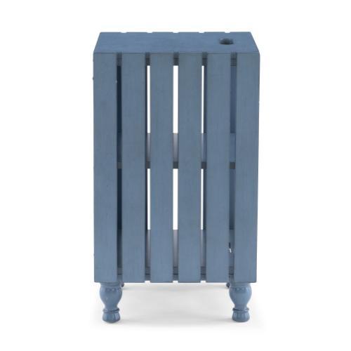 2 Open Shelves Storage Side Table, Blue