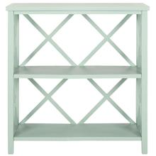 See Details - Liam Open Bookcase - Dusty Green