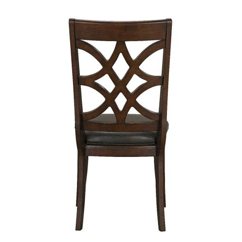 Standard Furniture - Wellsville 2-Pack Upholstered Side Chair, Cherry Brown