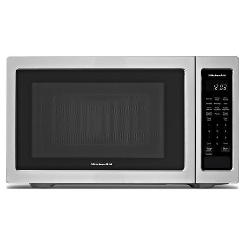 """KitchenAid® 21 3/4"""" Countertop Microwave Oven - 1100 Watt - Stainless Steel"""