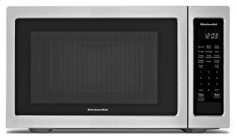 """KitchenAid™ 21 3/4"""" Countertop Microwave Oven - 1100 Watt - Stainless Steel"""