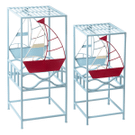 Sailboat Nested Plant Stand (2 pc. set) Product Image