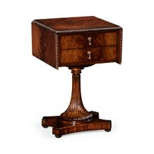 William IV mahogany table with side panels