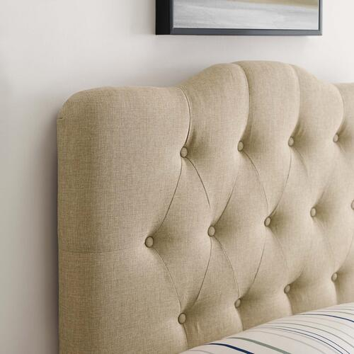 Modway - Annabel Twin Upholstered Fabric Headboard in Beige
