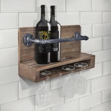 See Details - Armen Living Vox Industrial Wine Rack