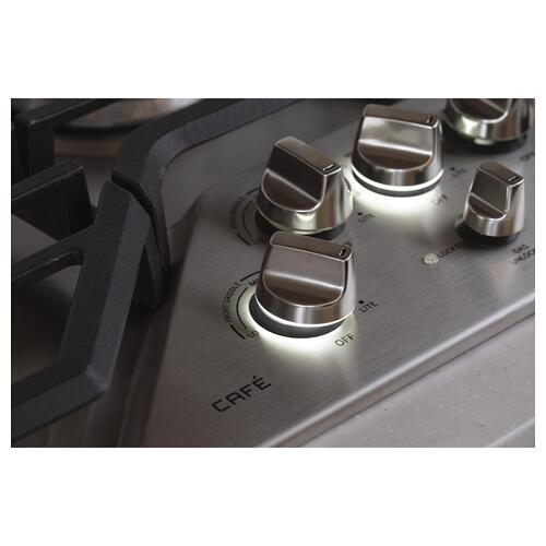"DISCONTINUED MODEL GE Cafe™ Series 30"" Built-In Gas Cooktop"
