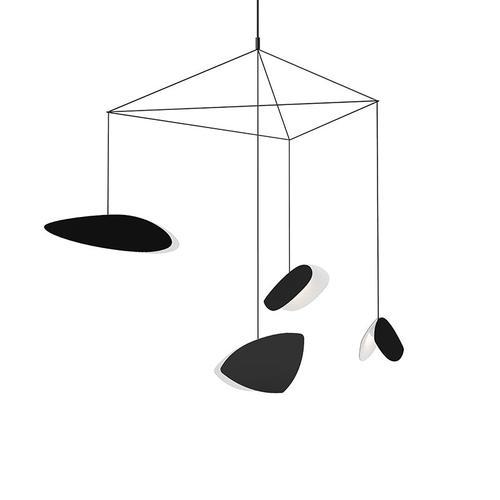 Sonneman - A Way of Light - Papillons LED Pendant [Size=4-Light Standard, Color/Finish=Satin Black Shade]