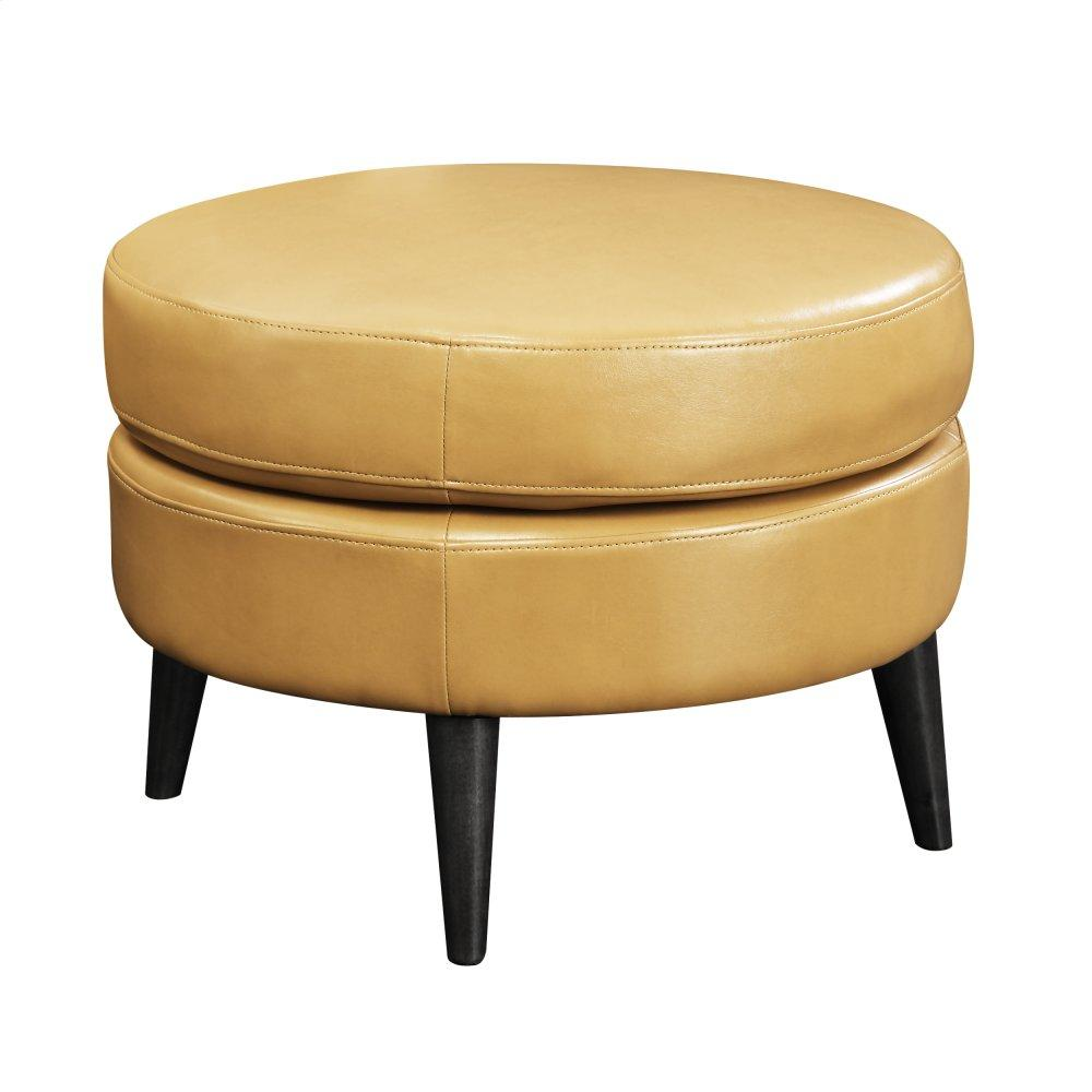 Emerald Home Oscar Round Ottoman-saddle U3218-03-05