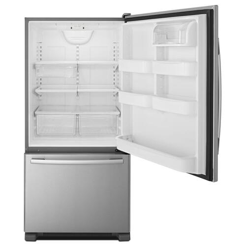 Amana® 33-inch Wide Amana® Bottom-Freezer Refrigerator with EasyFreezer™ Pull-Out Drawer − 22 cu. ft. Capacity