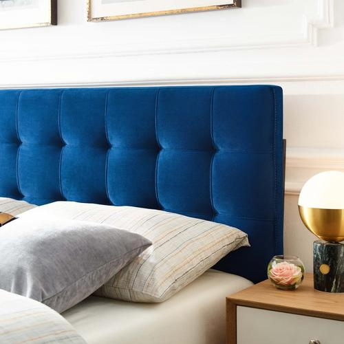 Modway - Lily King Biscuit Tufted Performance Velvet Headboard in Navy