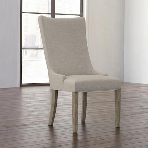 Bassett Furniture - Anne Oak Curved Back Chair