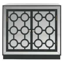 See Details - Kaia 2 Door Chest - Steel Teal / Nickel / Mirror