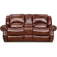 C99901-45 Softie Oxblood Leather Gliding Loveseat