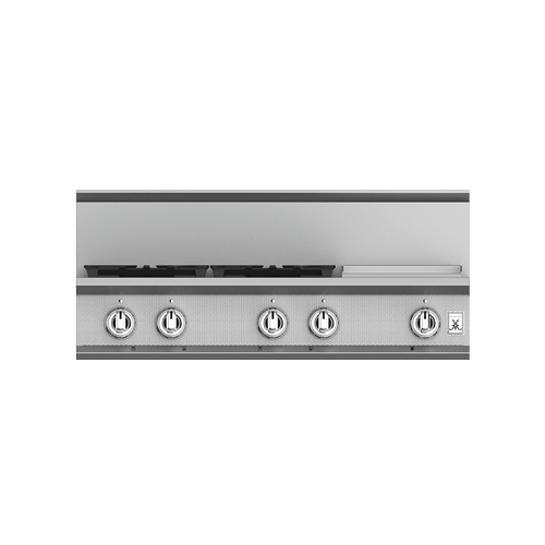 """36"""" 4-Burner Rangetop with 12"""" Griddle - KRT Series - Steeletto"""