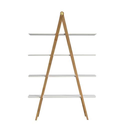 Accentrics Home - A-Frame Multi-toned Bookcase in White