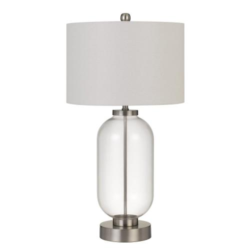 Sycamore Glass Table Lamp With Drum Shade