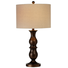 Espresso Finial Table Lamp. 100W Max. 3 Way Switch.